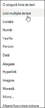 Linii multiple de text