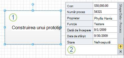 O formă Process fără grafice de date