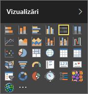 Alegeți Diagramă cu bare stivuite în Vizualizări din Power BI