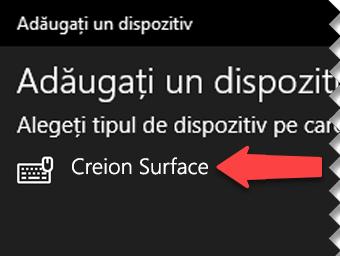 Selectați creionul digital pentru a anunța Windows că doriți să-l conectați prin Bluetooth la computer