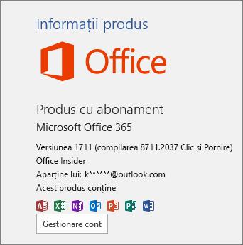Compilarea Office Insider
