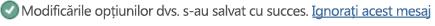 Text de mesaj care anunță că s-au salvat modificările.