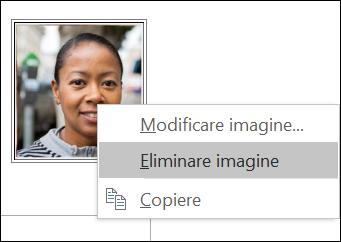 Puteți modifica sau elimina imaginea persoanei de contact.