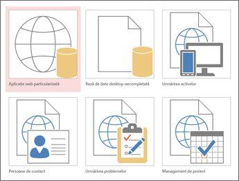 Vizualizarea Șabloane de pe ecranul de pornire din Access