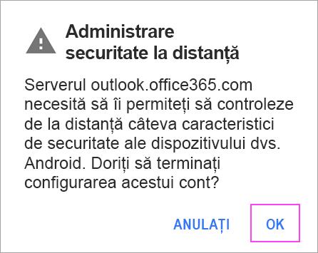 Configurarea e-mailului în aplicația de e-mail pentru Android