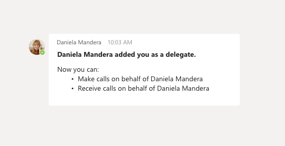 Delegat chat