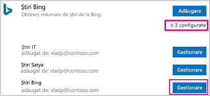 Butonul Gestionare de pe pagina conectorilor
