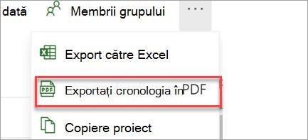 Export în PDF