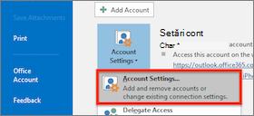 setările de cont Windows