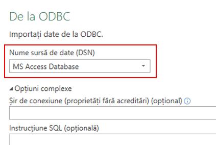 Power Query - Conectorul ODBC - Suport pentru selectarea DNS-urilor de utilizator/sistem