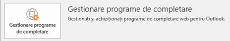 Faceți clic pe Gestionare programe de completare