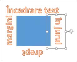 Adăugarea unui obiect WordArt în jurul unei forme cu margini drepte