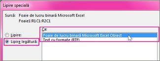 Alegeți Microsoft Excel