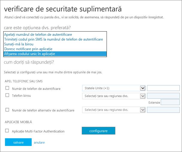 pagina verificare de securitate suplimentară