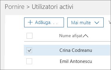 Alegeți utilizatorul pe care doriți să-l blocați