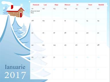 Șablon de calendar în PowerPoint Online
