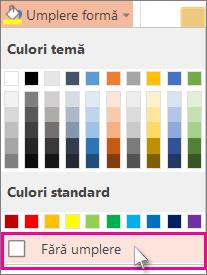 Fără culoare de umplere