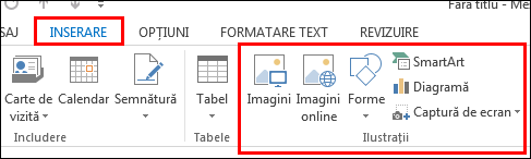 Outlook 2013, Inserare imagine