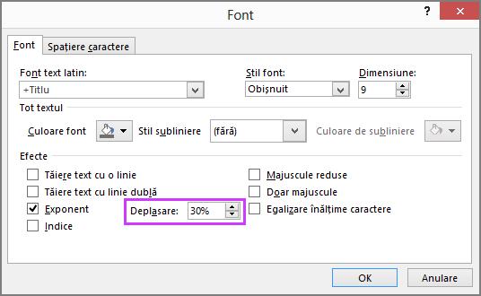 Afișează caseta de dialog Font în PowerPoint