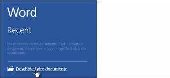 Deschidere alte documente
