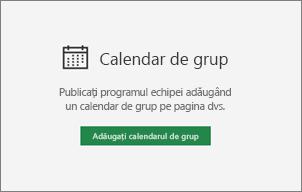 Adăugarea de calendar de grup
