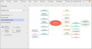 Diagramă Starter Brainstorming