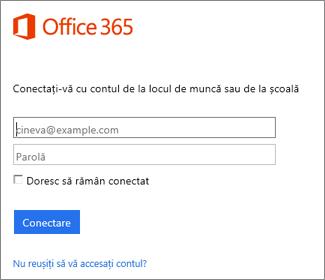 pagina de conectare la portal.office.com