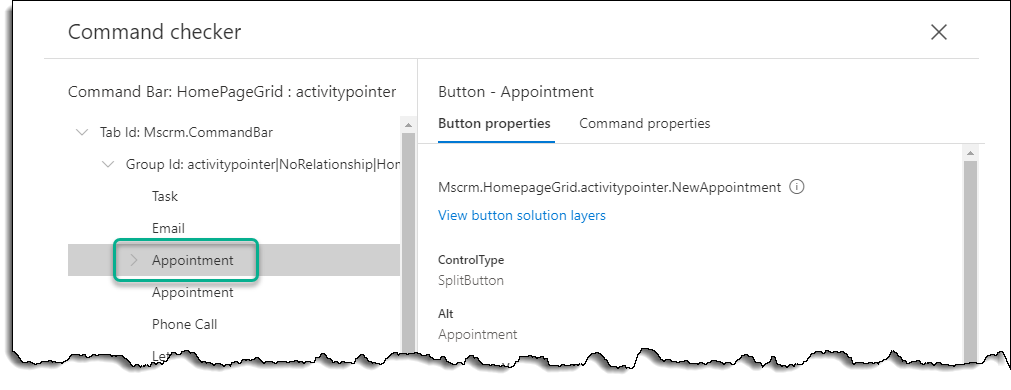 Command Checker - Appointment - Button