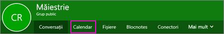 Butonul calendar pe panglică grupuri în OWA