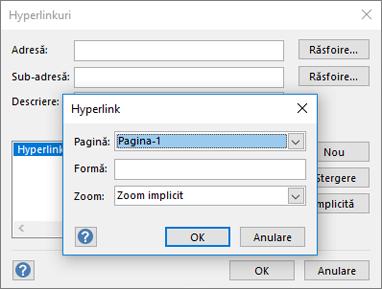 Caseta de dialog Hyperlink