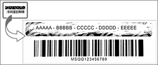 Răzuiți stratul de deasupra pentru a afișa cheia de produs Office