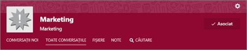 Faceți clic pe note în bara de navigare de sus