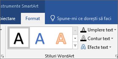 Faceți clic pe umplere Text sau efecte Text