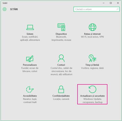 Setarea actualizărilor Windows în Windows 10