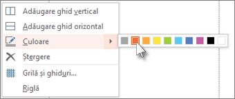 Alegeți o culoare pentru a codifica un ghidaj