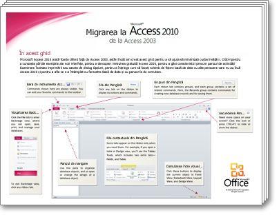Imagine redusă pentru Ghidul de migrare Access 2010