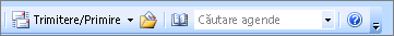 Caseta de căutare a agendei Outlook 2007