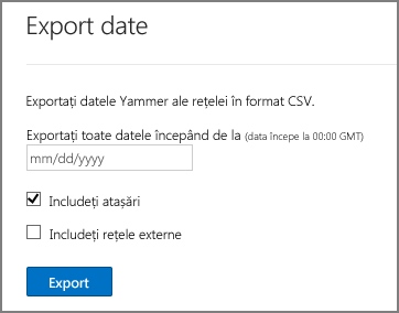 Exportați datele din rețeaua Yammer