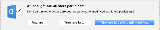 Ați adăugat sau ați șters participanții.