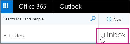 Treceți cu indicatorul peste inboxul dvs., apoi bifați caseta de selectare care apare.
