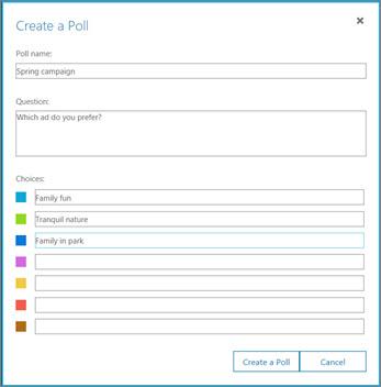 Faceți clic pe sondaj