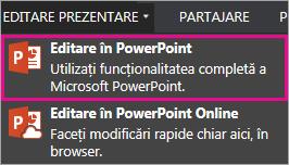 Comanda Editare în PowerPoint