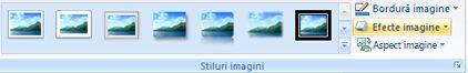 Imagine grup stiluri de pe fila Format-instrumente imagine
