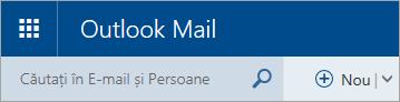 O captură de ecran cu colțul din stânga sus al cutiei poștale Outlook.com clasice