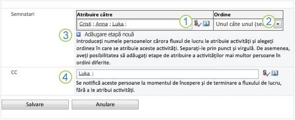A doua pagină a formularului de asociere, cu opțiuni numerotate
