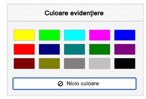 Evidențiază culorile