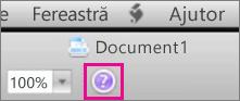 Faceți clic pe semnul întrebării pentru a deschide Ajutorul Mac Office