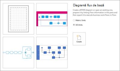 Sub șabloane, selectați diagramă flux de bază.
