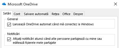 Pentru a dezactiva toate notificările pentru partajate OneDrive fișierele intra în setările de aplicația OneDrive și dezactivați-le.