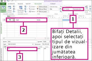 Grafic cu scindarea unei ferestre pentru o vizualizare combinație